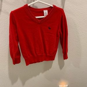 Carter's 2T vneck sweater red